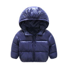 2017 New kids Winter Warm Coat Baby Boys Girls Outerwear & Coats Fashion White Duck Down children Jacket Coat for Boys clothing