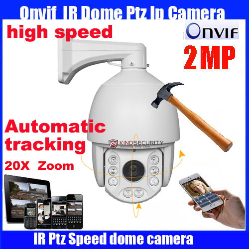 7 inch HD-IP high Speed Dome Camera Onvif 1080P 2MP 20X optical zoom Network IP PTZ camera support for automatic tracking cctv 1080p 2mp 20x zoom optical ptz ip camera motion detection camera in high speed with150m night view onvif network ip camera