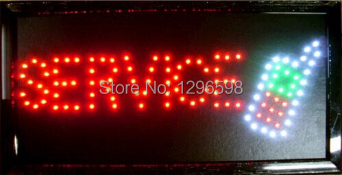 2017 Direct Selling custom Graphics indoor 10X19 inch mobile service store led sign