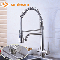 Wholesale And Retail High Quality Best Design Dual Handles Kitchen Sink Mixer Faucet
