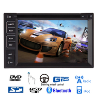 System Sub MP4 3D Touchscreen Logo Universal Car DVD Player MP3 Radio Stereo GPS Map Autoradio Music Steering Wheel