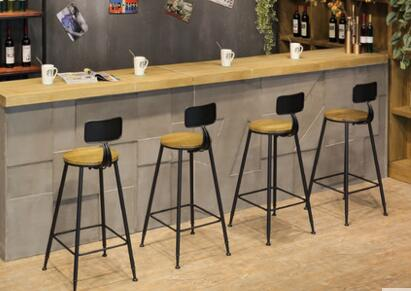 Bar chair. Tall stool. Bar chair iron art high chair.001 real wood bar chair european bar chair iron art chair rotate the front chair