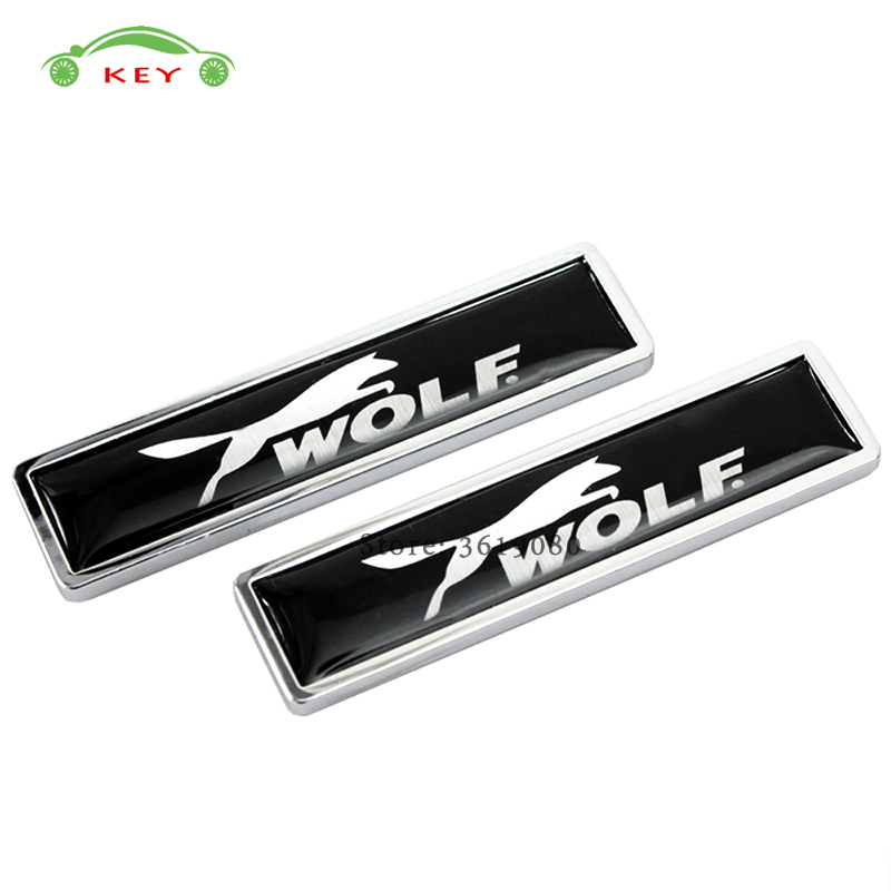 Car Accessories Auto Emblem Badge Metal Side Stickers for Wolf Logo for Ford Focus Fiesta Mustang Kuga Mondeo Ecosport RANGER metal red st front grille sticker car head grill emblem badge chrome sticker for ford fiesta focus mondeo auto car styling