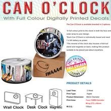 Wholesales Elvis Presley Singing Design Can Clocks For Memory Cheap Fridge Wall Clocks, Desk Table Clocks,2pcs/Lot Free Shipping