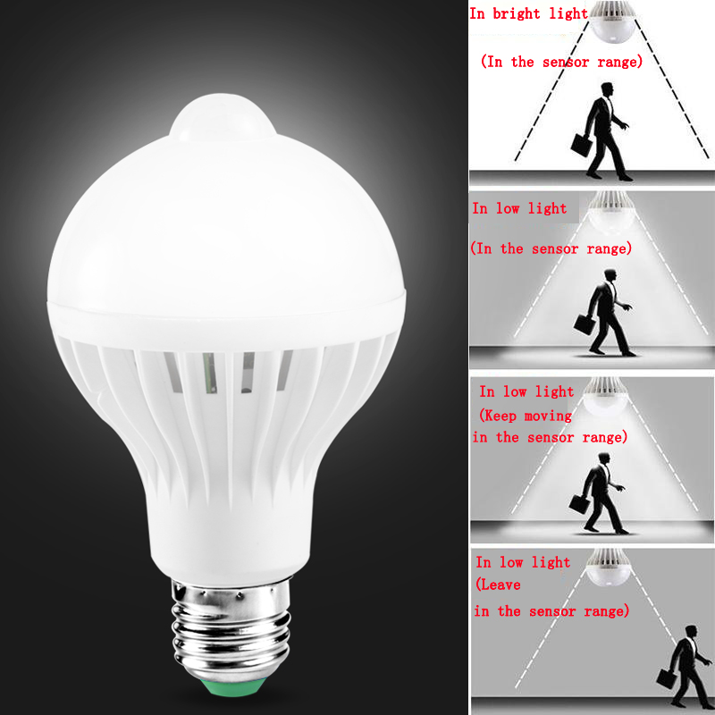 E27 Led Bulb with Motion Sensor Light 220V 110V PIR Bulbs Smart Lamp Child Night Light Ampoule Bombillas 5W 7W 9W Home Lighting