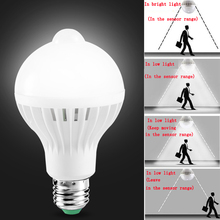 1pcs PIR Motion Sensor Lamp 5w Led E27 Bulb 7w 9w Auto Smart Infrared Body With The Lights