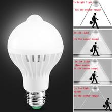 E27 Led הנורה עם Motion חיישן אור 220V 110V PIR נורות חכם מנורת ילד לילה אור אמפולה Bombillas 5W 7W 9W בית תאורה