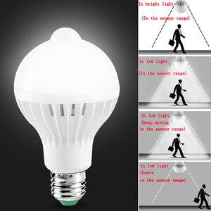 Image 1 - E27 หลอดLedพร้อมMotion Sensor Light 220V 110V PIRหลอดไฟสมาร์ทเด็กNight Light Ampoule Bombillas 5W 7W 9 บ้าน