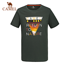 Camel quick-drying t-shirts 2016 summer comfortable Men print t-shirt breathable round neck T-shirt