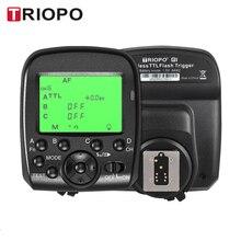 Triopo g1 duplo ttl gatilho sem fio com widescreen display lcd 1/8000s hss 2.4g transmissão sem fio 16 canais