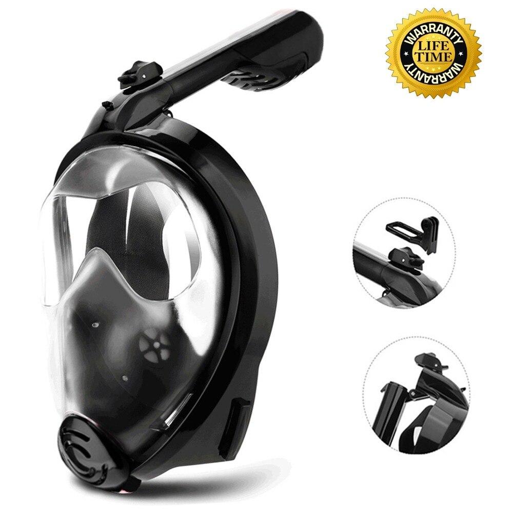 2018 Diving Snorkling Mask Waterproof Underwater Scuba mergulho Anti Fog Full Face Snorkeling Set swimming device for go pro cam