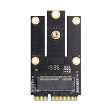 Nuovo M.2 NGFF per Mini PCI-E (PCIe + USB) adattatore Per M.2 Wifi Bluetooth Wireless Scheda Wlan Intel AX200 9260 8265 8260 Per Il Computer Portatile(China)