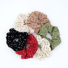 Xugar Hair Accessories Elastic Dot Scrunchie Ponytail Holder Rope Tie Fashion Europe Ring for Women Girls