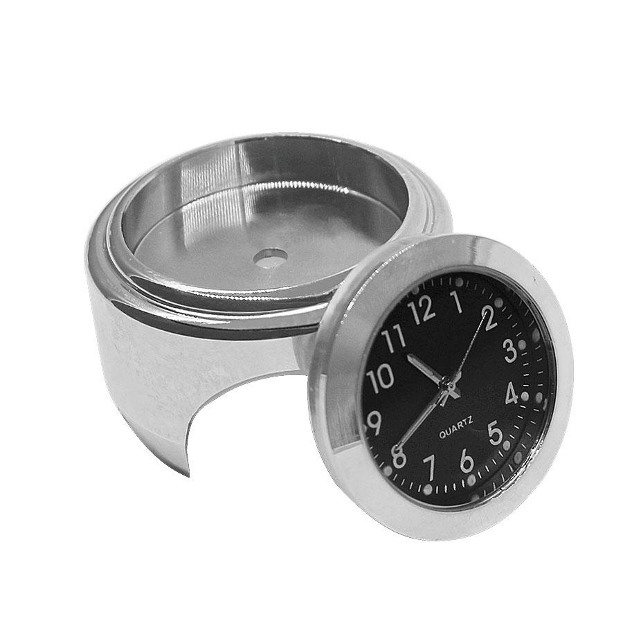 2PCS/Set Universal Waterproof 7/8 Motorcycle Handlebar Black Dial Clock Watch Temp Thermometer For YAMAHA Harley Free Shipping 26