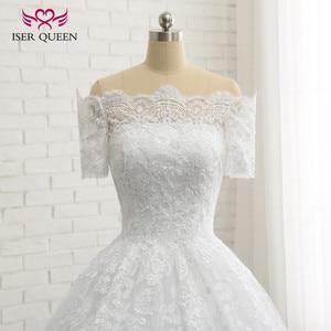 Image 4 - Бальное платье с коротким рукавом, винтажное кружевное платье большого размера с аппликацией W0334