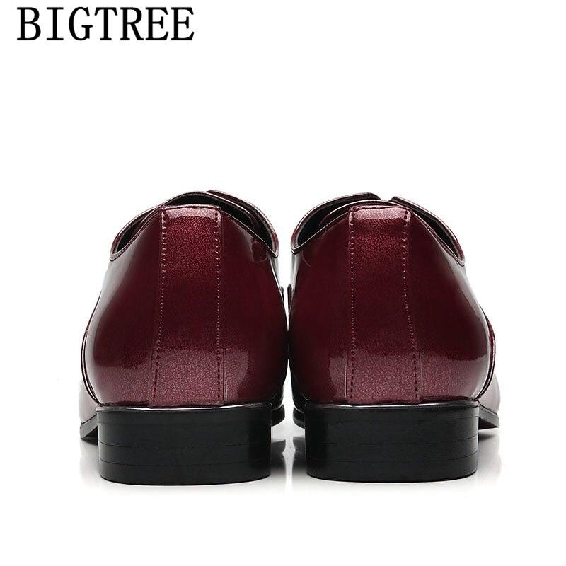 Cuir Sociale De Hommes Foi rouge Verni Élégant Masculino Noir Italiennes Mariage En Classique Luxe Robe Formelle Chaussures Sapato xB8I6qHw