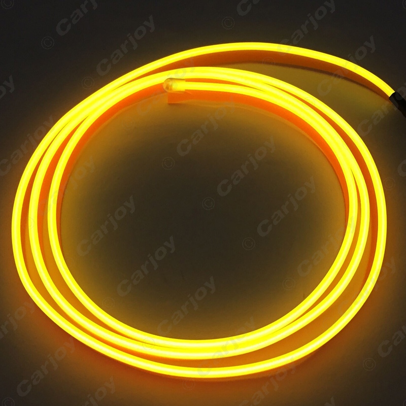3M 9-color Flexible Moulding EL Neon Glow Lighting Rope Strip With Fin For Car Decoration #CA3269