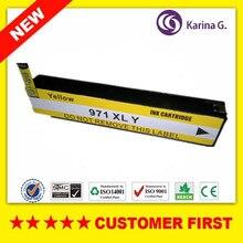 1 قطعة الأصفر خرطوشة حبر متوافقة استبدال ل HP970XL HP971 XL دعوى ل HP OfficeJet X451dn X451dw X476dn X476dw X551dw