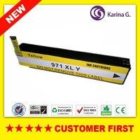 1 STÜCKE Gelb Kompatibel Tintenpatrone Ersatz Für HP970XL HP971 XL anzug für HP OfficeJet X451dn X451dw X476dn X476dw X551dw