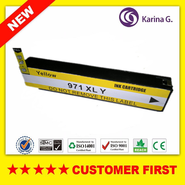 1PCS Yellow Compatible Ink Cartridge Replacement For HP970XL  HP971 XL suit for HP OfficeJet X451dn X451dw X476dn X476dw X551dw