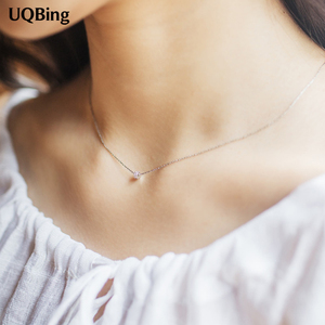 Korea Fashion 925 Sterling Silver Necklaces Ball Silver Necklaces Jewelry Collar Colar Free Shipping(China)