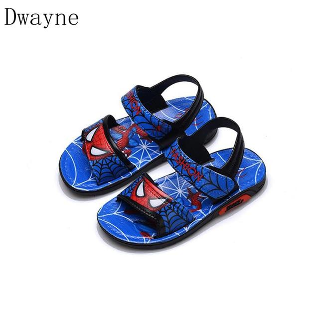 202abc3ab4eb Children Shoes Boys Sandals 2018 New Summer Kids Beach Shoes Cartoon Boys  Shoes Spiderman Baby Sandals Toddler Kids Sandals