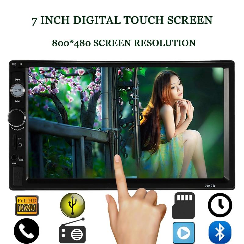 ФОТО Universal 2 DIN Car MP5 Player 7'' HD Touch Screen Bluetooth Phone  In Dash Stereo Radio FM Audio Video USB Auto Electronics