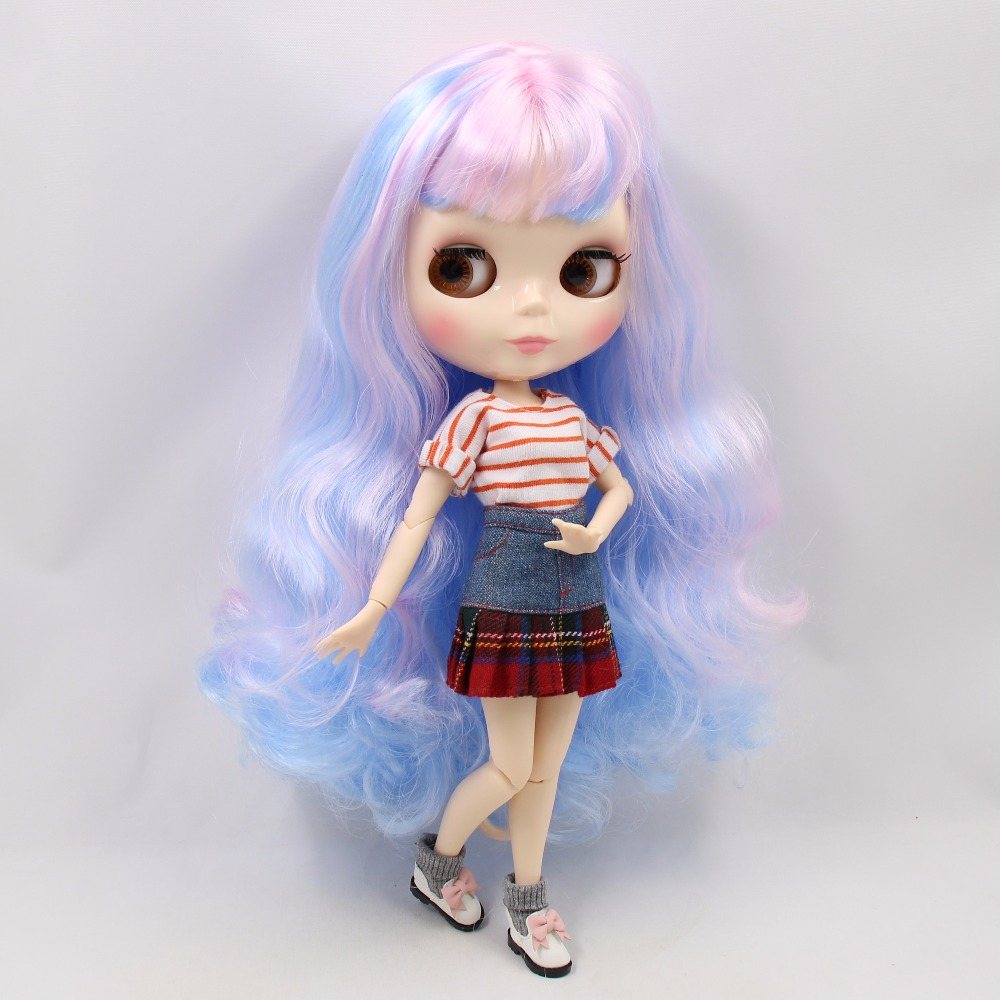 ICY factory blyth Doll 280BL1017 6005 Pink mix Blue hair white skin Joint body 1 6