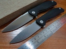5PCS/LOT Efeng F3 Camping Folding Knife D2 Blade G10 Handle Pocket Tactical Knife Flipper Outdoor  Knives+ Black model