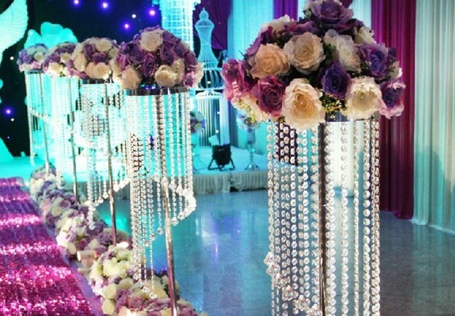 115cm Fashion Luxury Acrylic Crystal Wedding Road Lead Centerpiece Event Party Decoration Backdrop