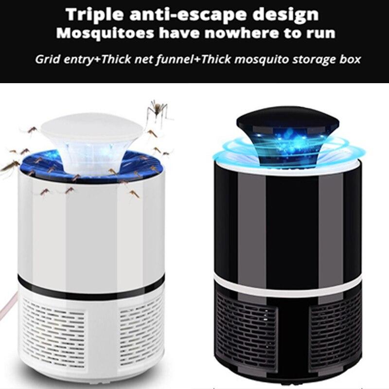 1 piezas verano LED Lámpara electrónica Mosquito asesino de la mosca trampa para mosquitos en interiores inhalado mosca repelente con cargador USB