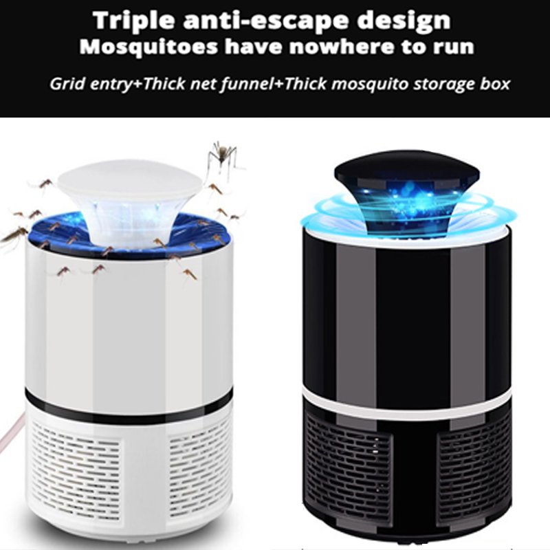 1pcs Summer LED Lamp Electronic Mosquito Fly Killer Indoor Mosquito Trap Inhaled Fly Repellent With USB Charger