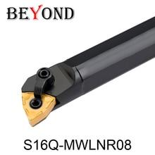 OYYU S16Q-MWLNR08 S16Q-MWLNL08 MWLNR MWLNL токарный резак внутренний Токарные Инструменты держатель ЧПУ расточные стержни карбидная вставка WNMG 080404