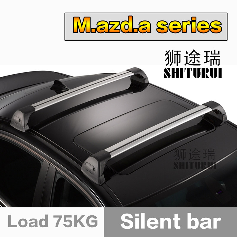 все цены на SHITURUI For Mazda ATENZA 3 5 6 8 ultra quiet truck roof bar car special aluminum alloy belt lock онлайн