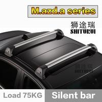 SHITURUI For Mazda ATENZA 3 5 6 8 ultra quiet truck roof bar car special aluminum alloy belt lock roof rack corss rack 2pcs