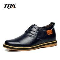 נעלי עור אמיתיות נעליים מזדמנים גברים גובה פנימי להגדיל החלקה נעלי הליכה גברים של עסקים שחורים/כחול אופנה נעלי