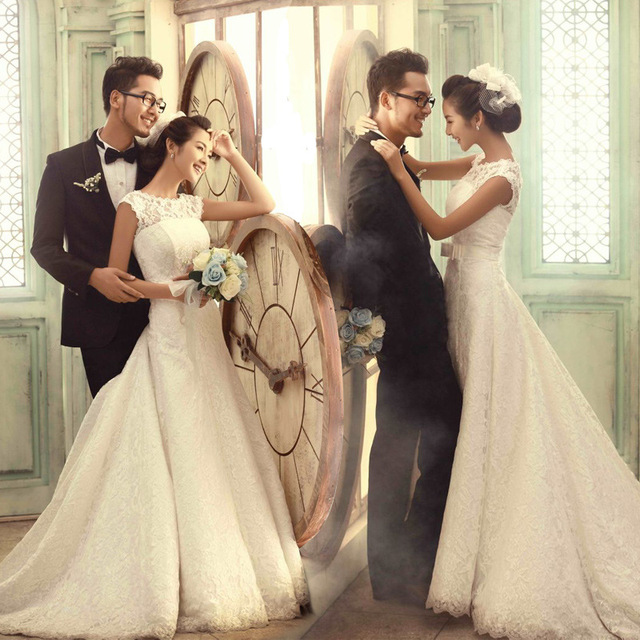 Wedding Gowns 2015 Trail New Bride Lace Dress Manufacturers