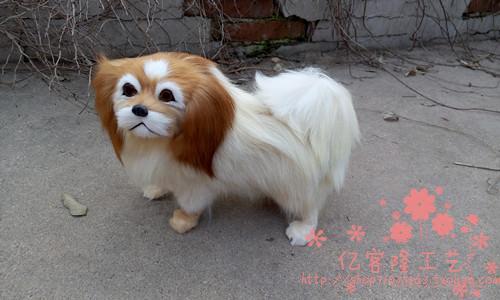 ФОТО simulation animal large 35x24cm Pekingese dog model,lifelike Pekingese dog decoration gift t475