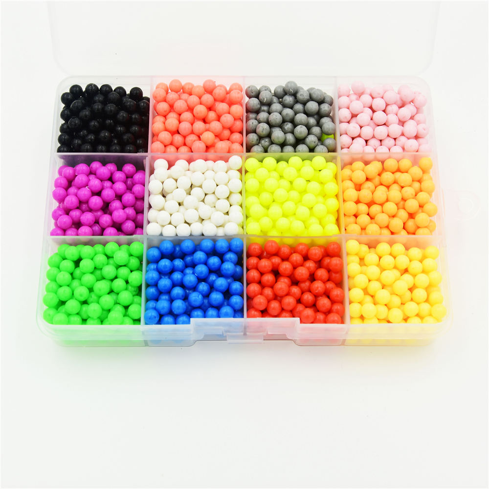 12 Colors Water beads sticky perler beads pegboard set fuse