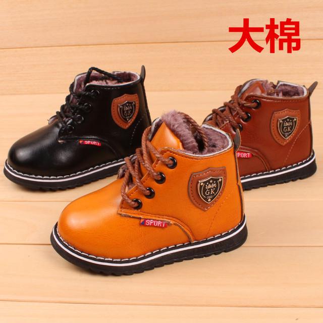 Nuevas botas de invierno caliente bebé deportes shoes 1-3 t gk muchachas del muchacho botas caterpillar, bebé barefoot shoes, bebé cargador de la nieve