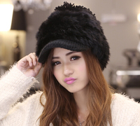 2017 Korean Winter Warm Tide Hat Lady Rabbit Hair Fur Hat Winter