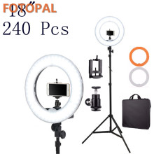 Fotopal China Electronics Market 4800LM LED Fill Ring Gentle Rings Annular Lamp Video Selfie Gentle Tripods/Stand Luggage Telephone Photograph