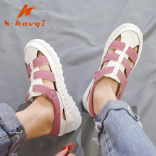 Women Summer Leather Flat Sandals Ladies Beach Casual Shoes Female Footwear Flip Flops Platform Gladiator Princess Sandals 2019 стоимость