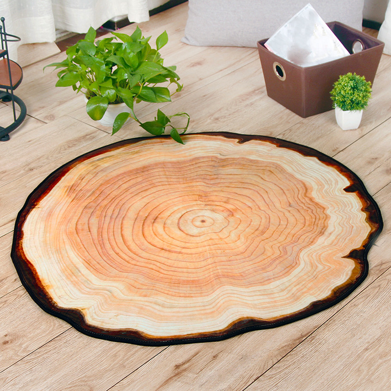 Simple 3D Round Carpets Anti slip Computer Chair Pad Soft Living Room Bedroom Home Floor Mat