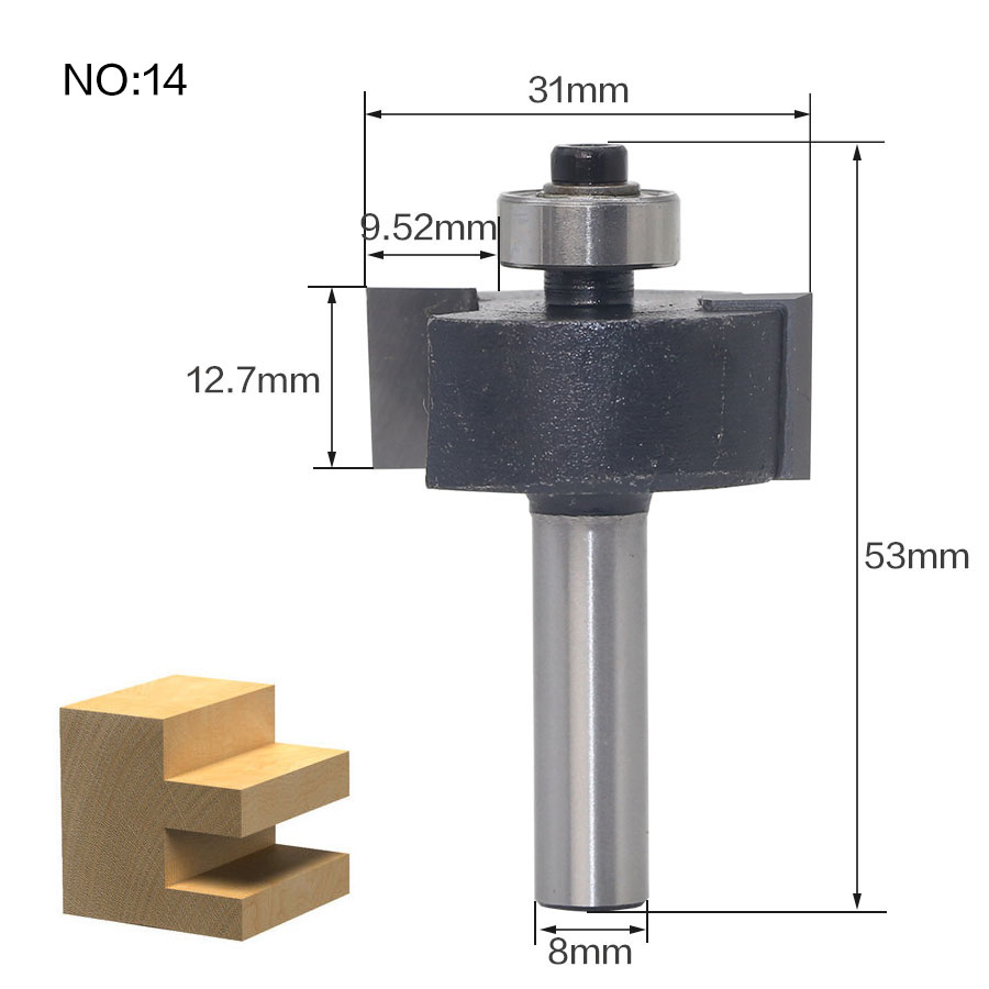 Image 4 - 1pcs 8mm Shank wood router bit Straight end mill trimmer cleaning flush trim corner round cove box bits tools Milling Cutter RCT-in Milling Cutter from Tools