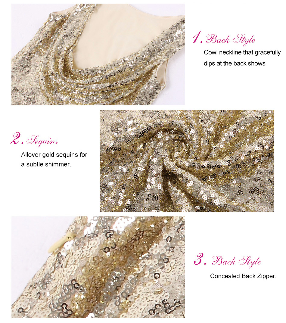 Gold Long Evening Dress Ever Pretty Back Cowl Neck EP07110GD Shine Sequin Sparkle Elegant Women 2017 Evening Party Gown 9