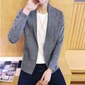 2016 Recién llegado de primavera/otoño personalidad de la moda masculina chaqueta de punto prendas de vestir exteriores delgada ocasional ropa de los hombres Suéter de Los Hombres y Cardigan