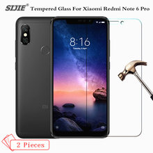 2Pcs Tempered Glass For Global version Xiaomi Redmi Note 6 Pro 3/4GB 32/64GB Snapdragon 636 note6 smartphone toughened 9H film