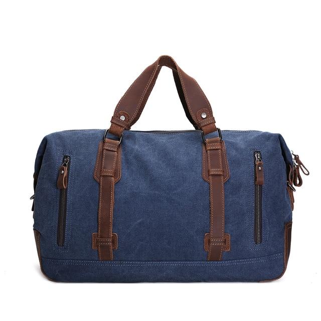 ROCKCOW Handmade Encerado Lona Duffle Bag, Saco de viagem, Saco da bagagem, Saco de noite AF11