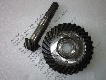 Set of spiral bevel gear and shaft for front axle for JINMA 184 254, part number: 184.31.185 and 184.31.241 фото